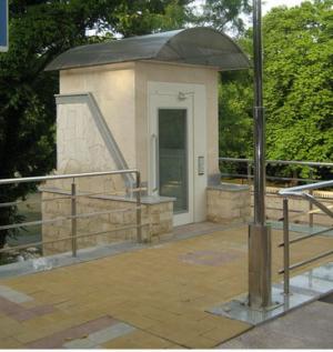 Подъемник стационарный лифтовой