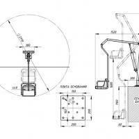 Подъемник для бассейна  с гидравлическим приводом ИПБ-170Г